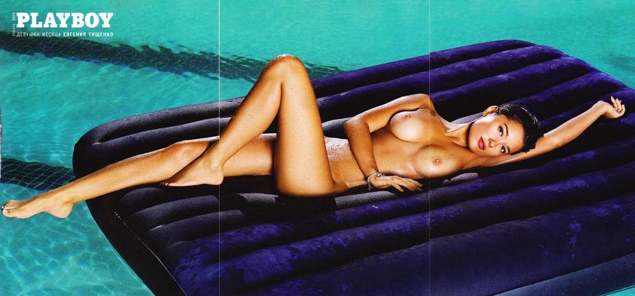 голая Евгения Тищенко в Playboy Украина, январь 2013