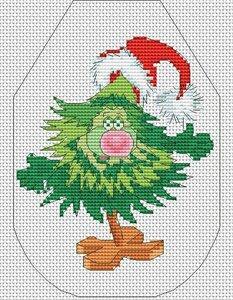 Схема вышивки крестом фартук новогодний фото 62