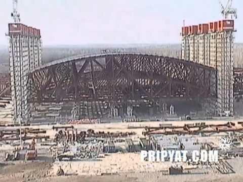 Первый подъём арки нового Саркофага на ЧАЭС