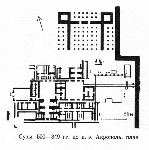Акрополь Суз, план