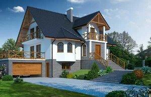 Частный дом с цокольным этажом