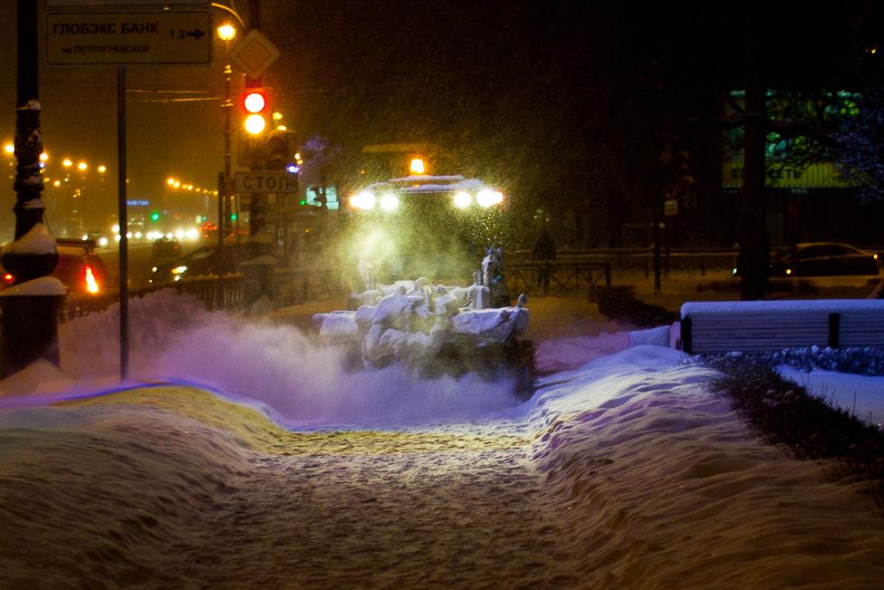 Уборка снега. © Павел 'PaaLadin' Семёнов