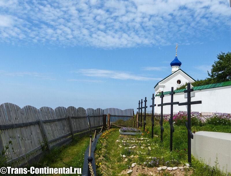 Посольский монастырь: Могилы погибшего посольства на берегу Байкала