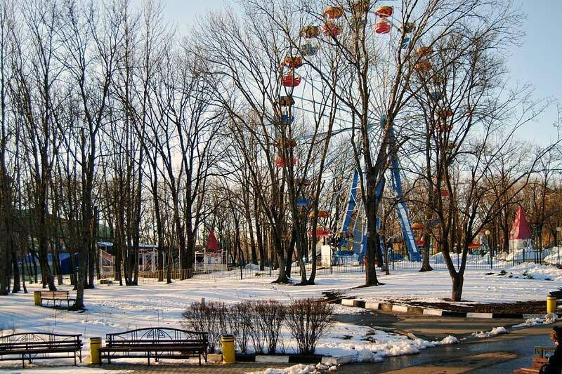 Современный парк Ленина в районе расположения фонтана