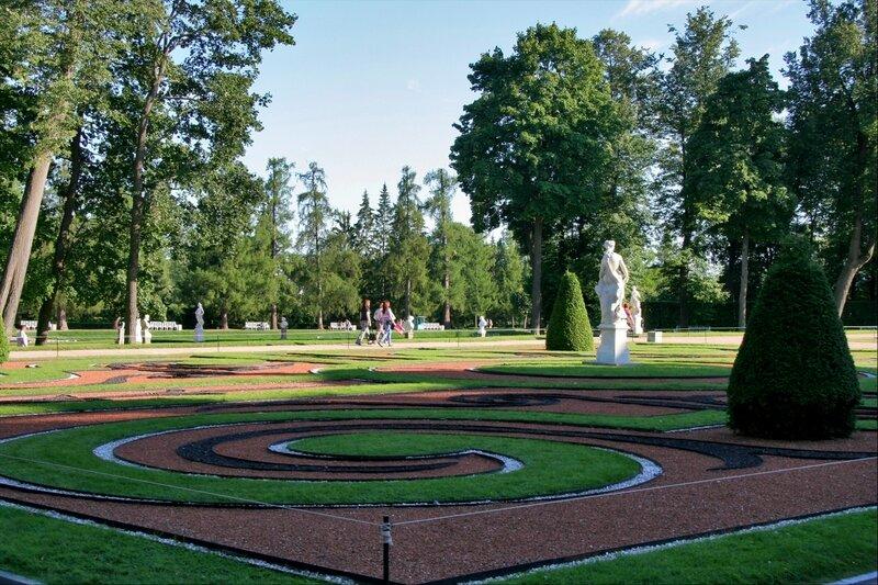 Екатерининский парк, партер в Старом саду