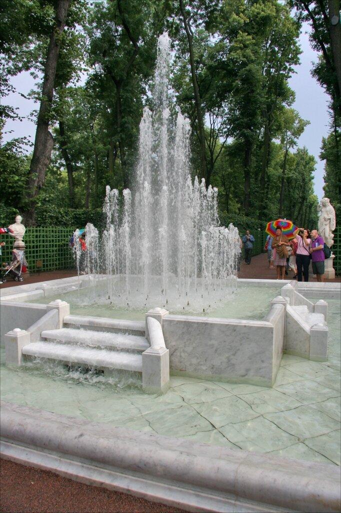Летний сад, фонтан «Пирамида» на Главной аллее