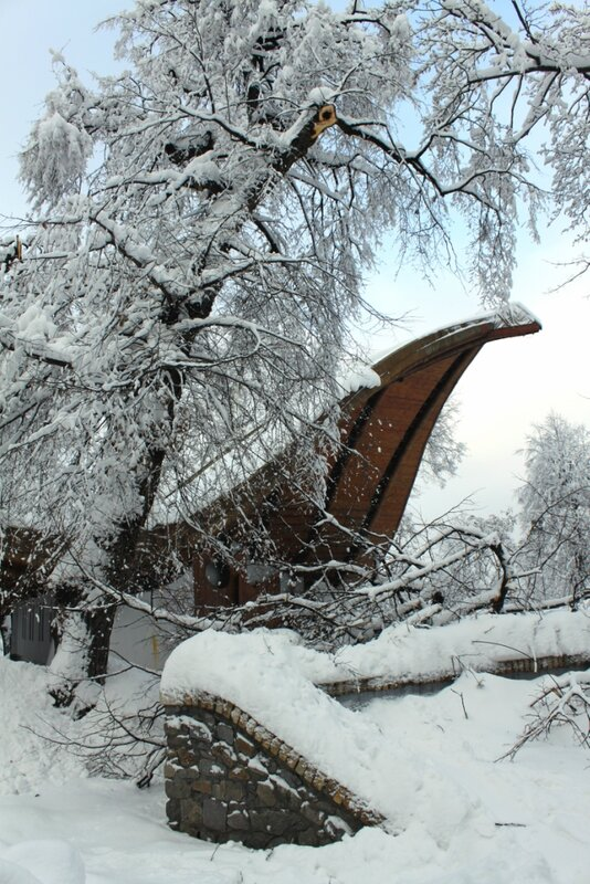Снеголом возле Летней эстрады Мариинского парка