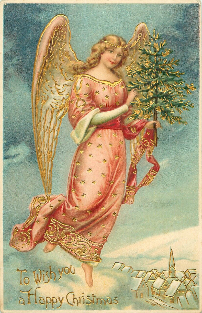 Ангелы с новым годом открытки, красивые картинки