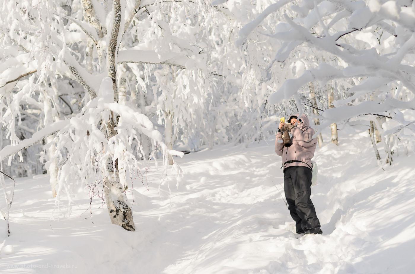 Фото 5. Как выглядит тропа в национальном парке Таганай зимой. 1/4000, 2.5, 200, 50.