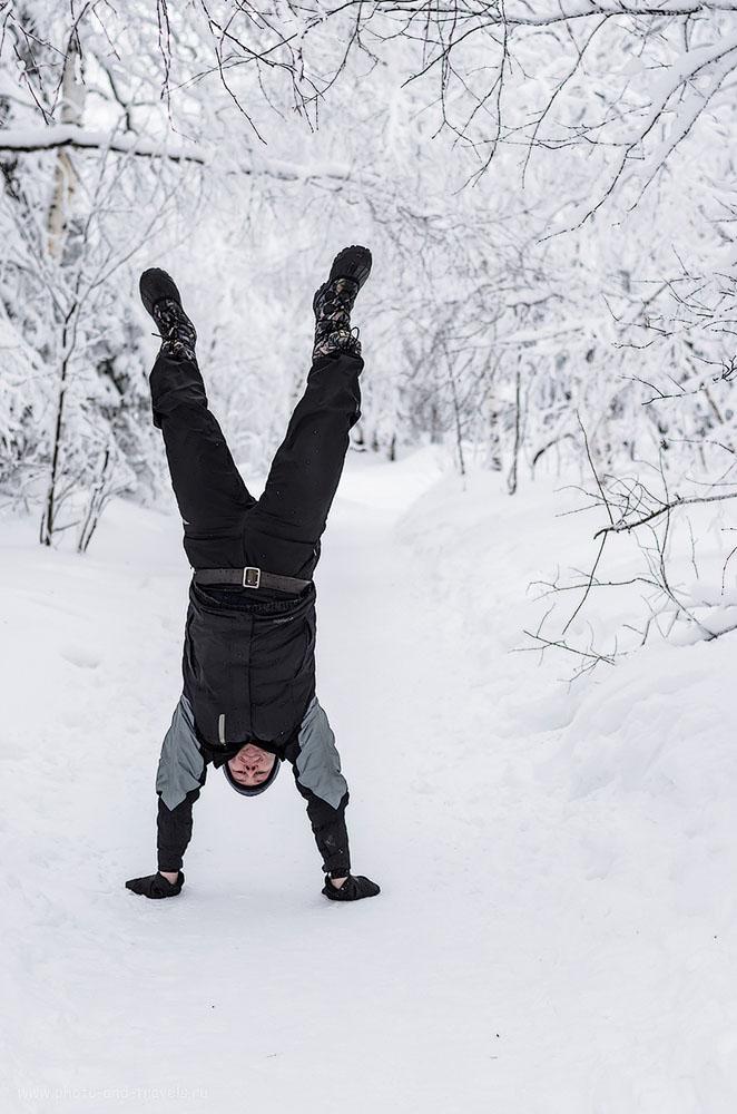 Фото 14. Путь к смотровой площадке Черная скала такой легкий, что можно идти на руках. Поездка на Таганай в зимнее время. 1/500, 3.2, 200, 50.
