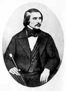 Гоголь. Фото 1845. С дагерротипа