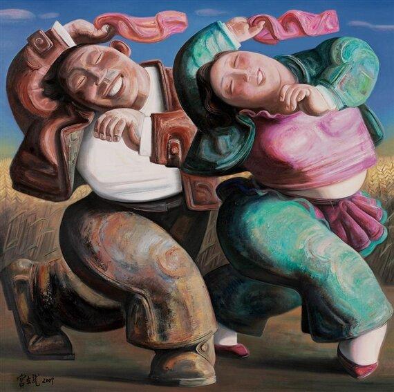 Китайский современный художник Гун Лилун