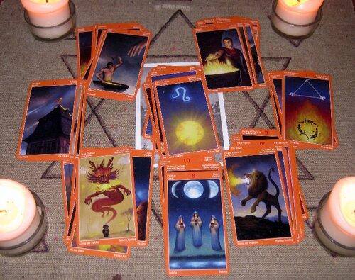 Обряд с картами таро огня. курс магия таро