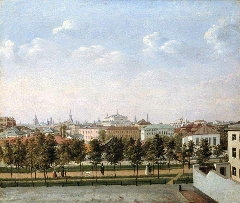 Шухвостов С. М.. Рождественский бульвар 1840-е гг.