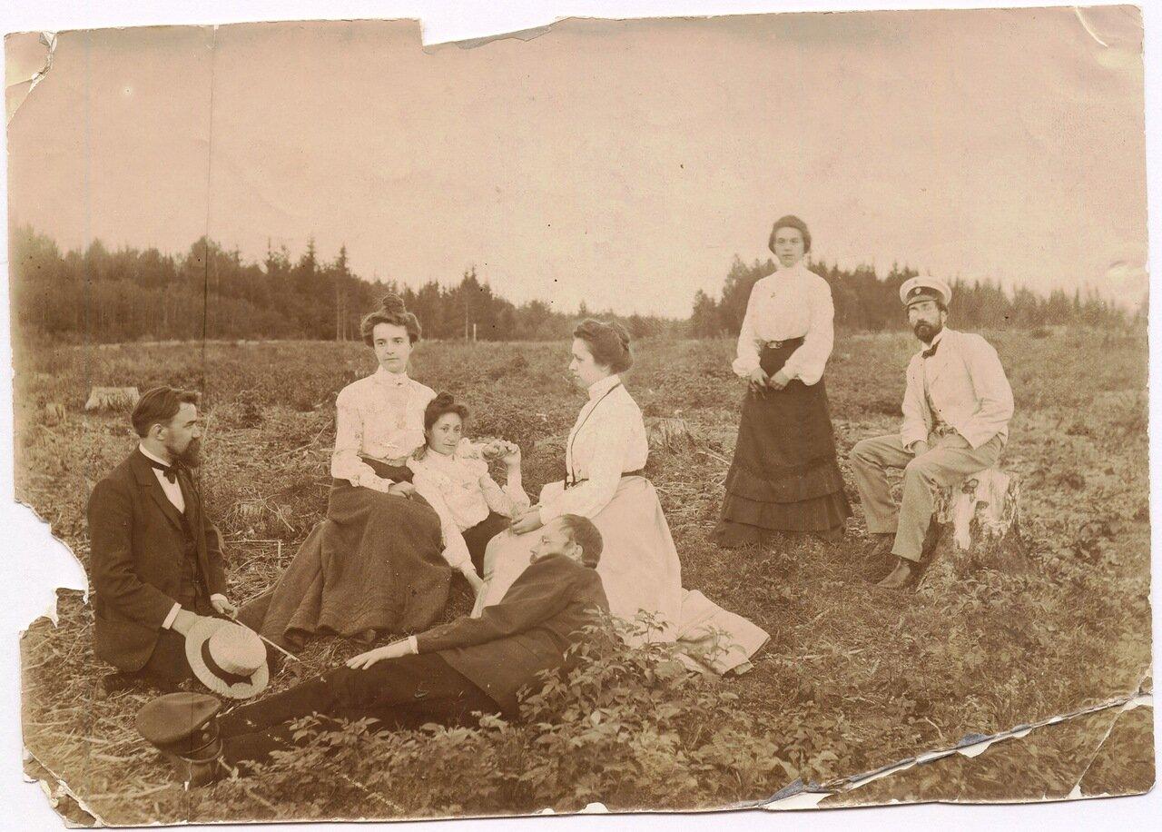 1902, 30.06. Компания Рубашкиных на вырубке