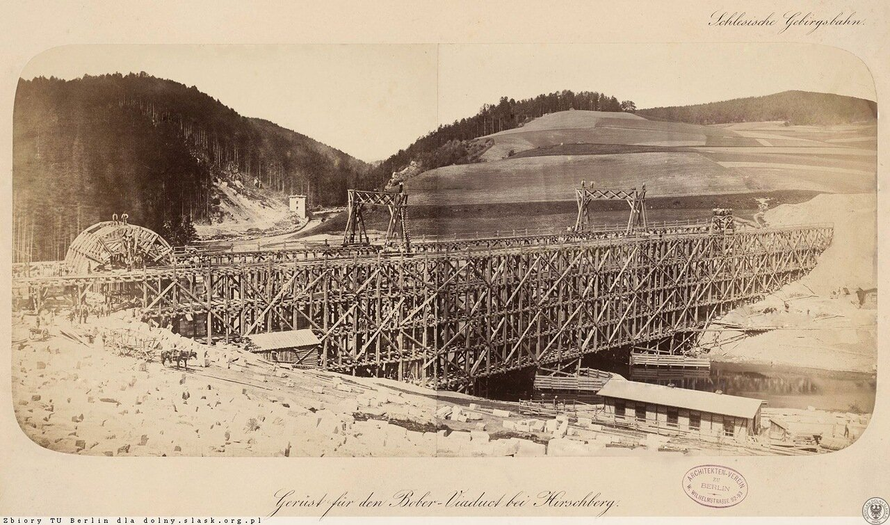 Начальные работы по строительству каменного моста через Бивер,1864
