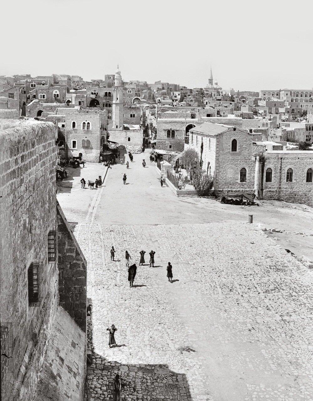 Вид Вифлеема от церкви Рождества Христова. Вифлеем, Палестина. 1900-1920