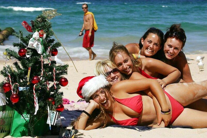 Новый год на пляже Сиднея