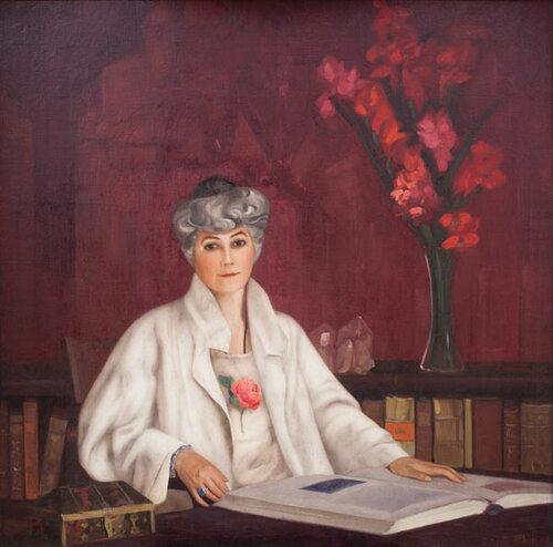 С.Н. Рерих «Портрет Е.И. Рерих» 1937 (реставрирован)