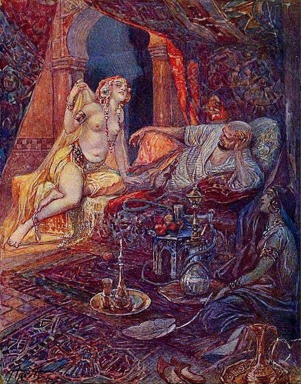 Шахерезада. Иллюстрация к _Тысяча и одной ночи_  Апсит Александр Петрович (1880—1944)(1)