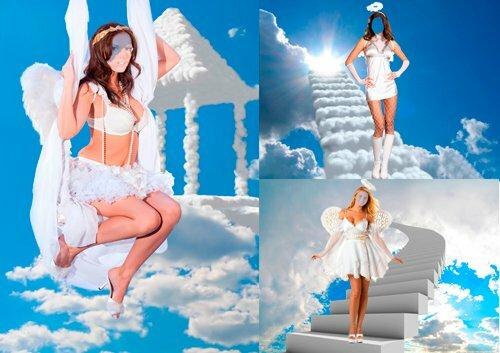Шаблоны для фотошопа - Девушки ангелы 0_c9e5b_807630b7_L
