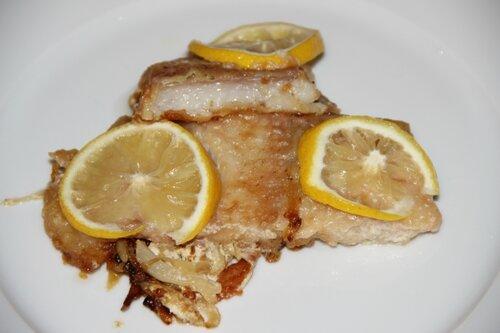 Рыба с фенхелем и лимоном в сливках