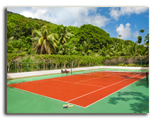 Сейшелы. О. Силуэт. Hilton Seychelles Labriz Resort & Spa. Tennis Court