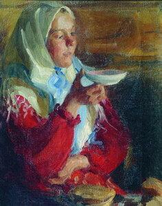 Крестьянка с блюдцем