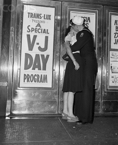 Sailor Kissing Woman on V-J Day