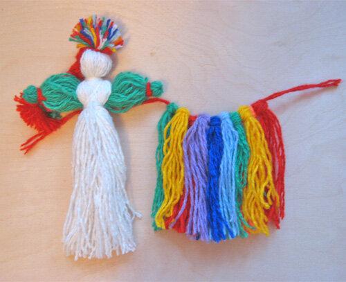 Как делать куклы обереги своими руками из ниток 35