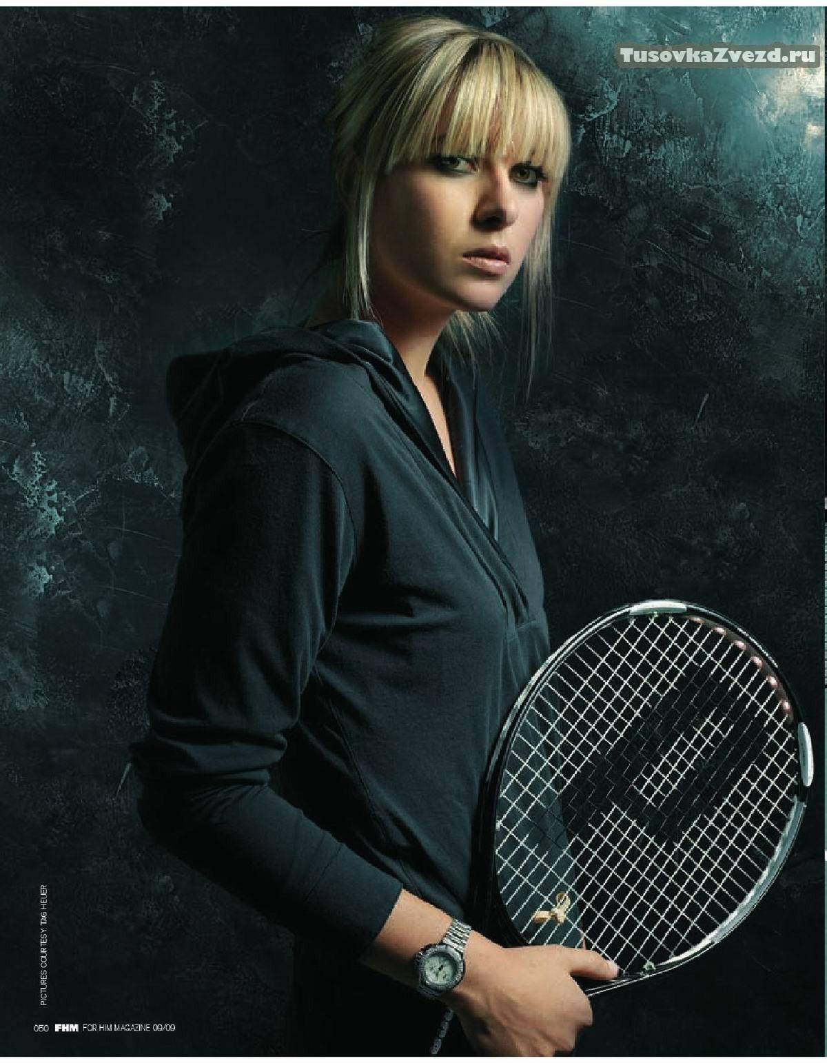Мария Шарапова (Maria Sharapova) фото в журнале FHM Индия, октябрь 2009