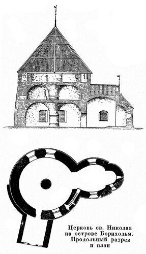Церковь святого Николая на острове Борнхольм, чертежи