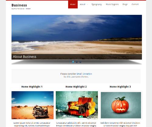 Business - тема для Drupal 7