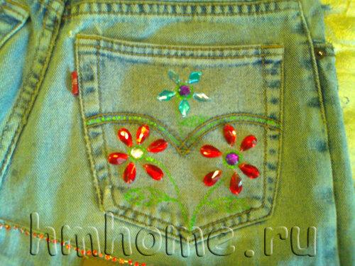 Фартук из старых джинс
