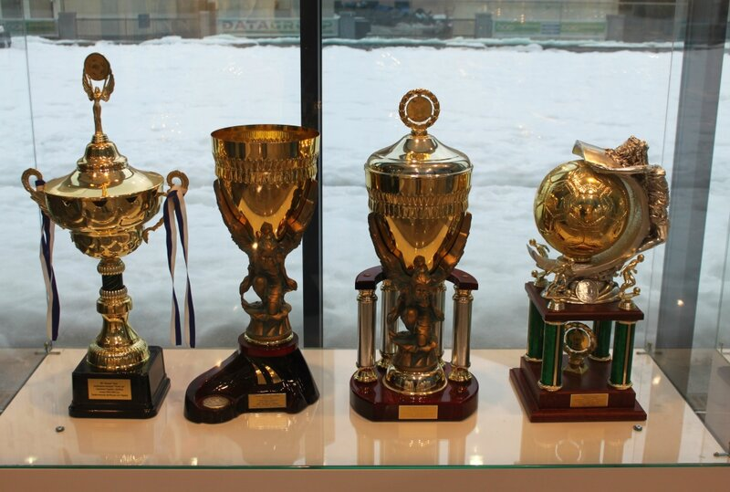 Кубки в экспозиции музея Динамо Киев