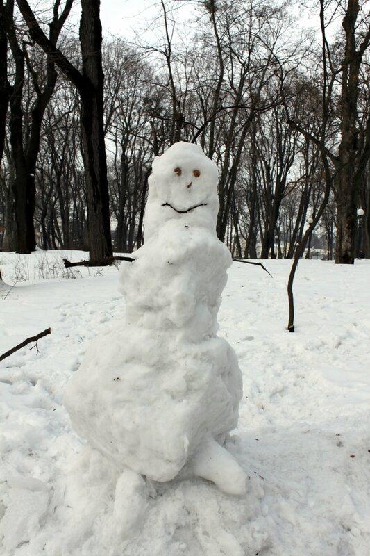 Снеговик в Мариинском парке