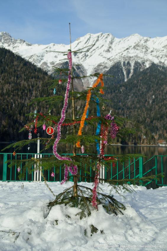 панько pavelpanko рица Абхазия озеро зима горы снег