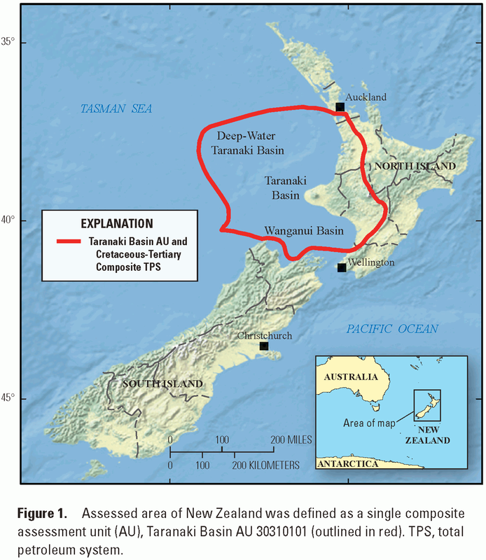 Usgs assessment:  Taranaki Basin Assessment Unit, New Zealand, 2013