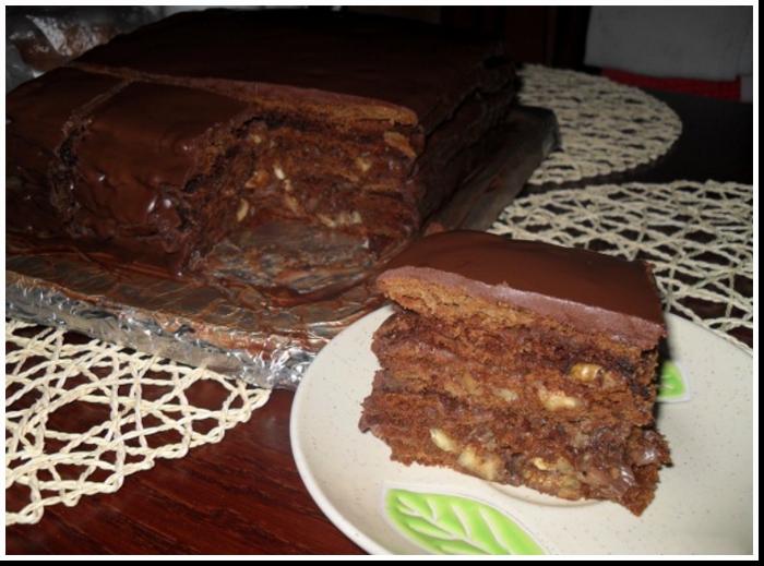 """Шоколадный-шоколадный торт """"Мой каприз!"""""""