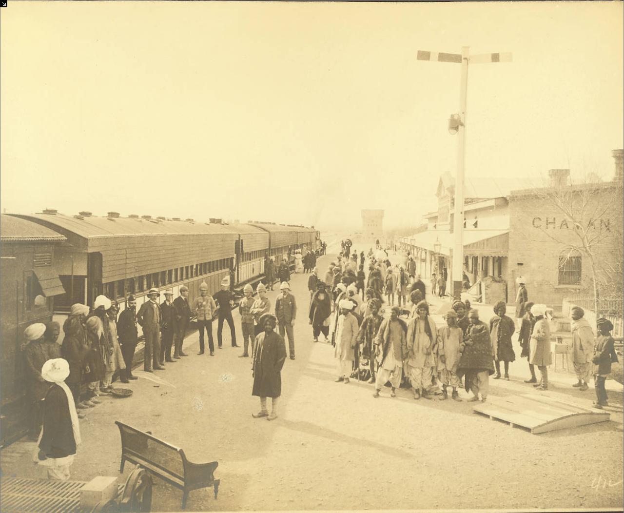 Станция Чаман Северо-Западной железной дороги. Белуджистан