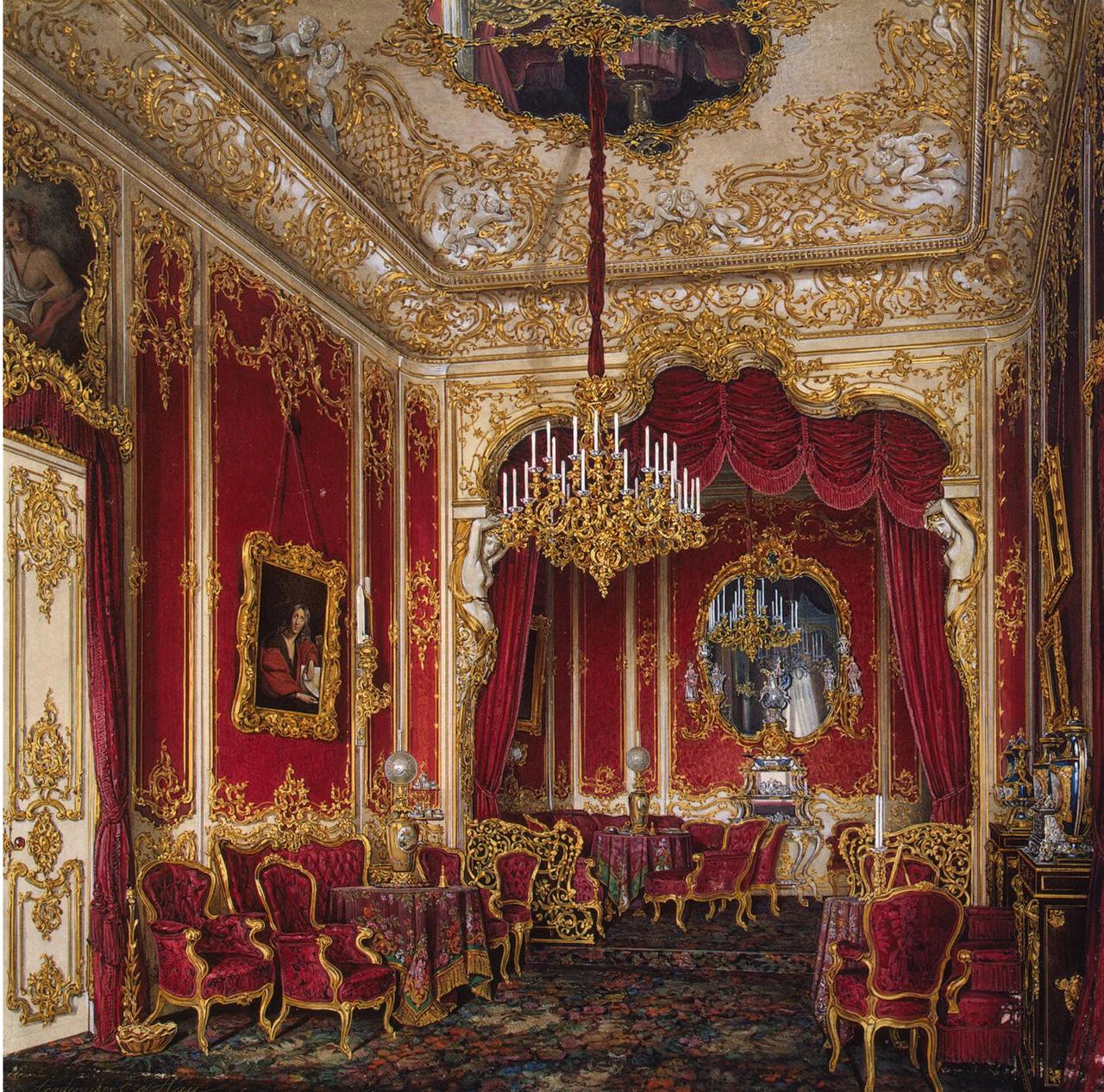Интерьеры Зимнего дворца. Будуар императрицы Марии Александровны