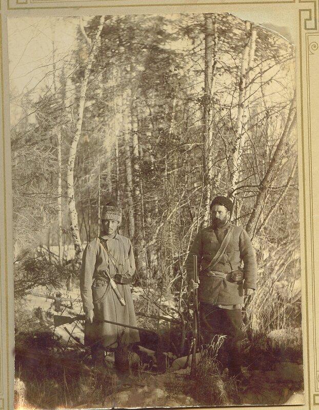 Петр Перевозчиков и Павел Половников на охоте
