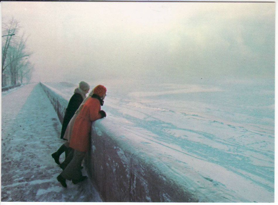 Иркутск. Река Ангара. 1980-е годы
