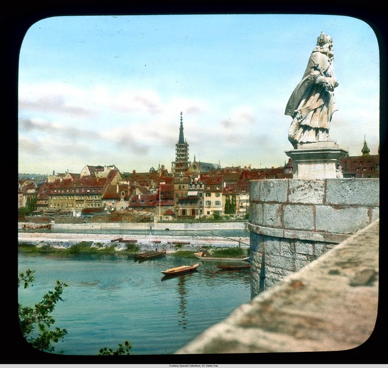 Вюрцбург. Старый город со Главного Старого моста