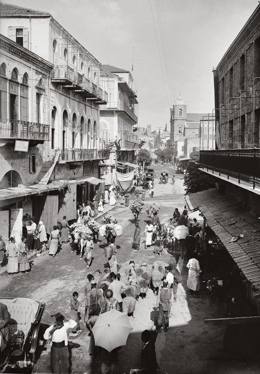 Уличная сцена. Бейрут, Ливан. 1900-1920 гг.