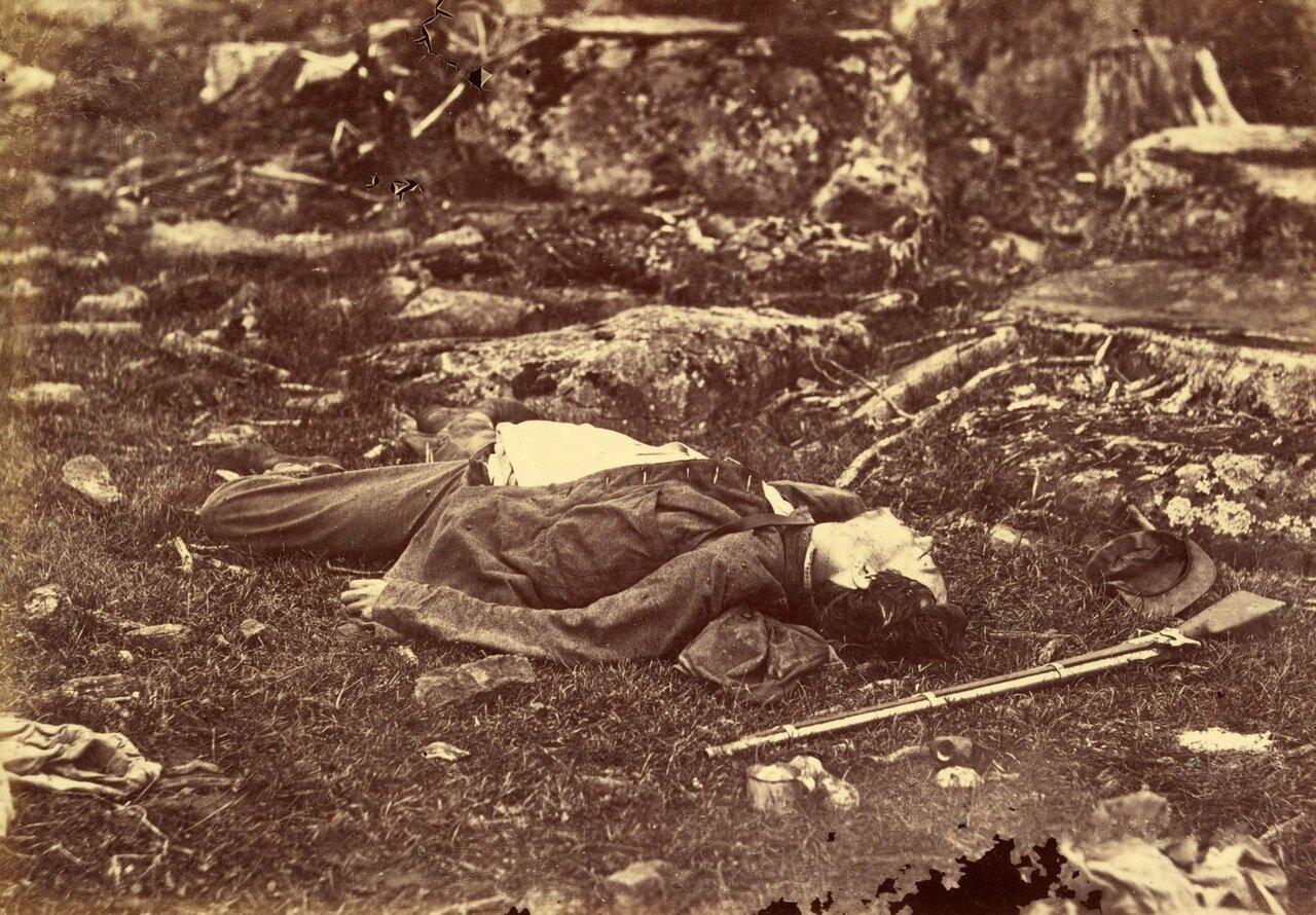 Вечный сон снайпера на поле боя при Геттисберге. Пенсильвания. Июль 1863 г.