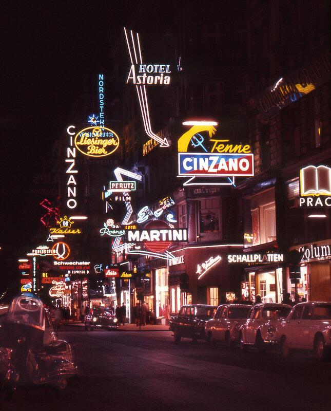 Vienna Street Scene 1965