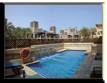 ОАЭ. Дубаи. Madinat Jumeirah - Dar Al Masyaf Hotel. Royal Villa. Pool