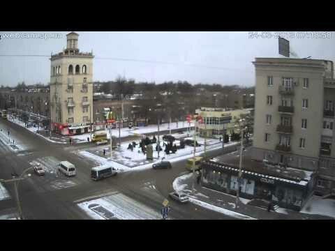 Видео ДТП Запорожье, пр. Металлургов 24.03.2013