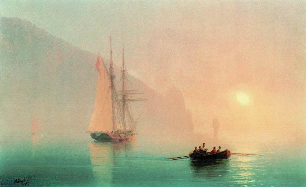 Аю-Даг в туманный день. 1853.jpg